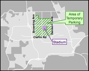 Temporary Parking on Game Days