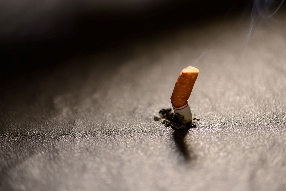 photo of a cigarette butt