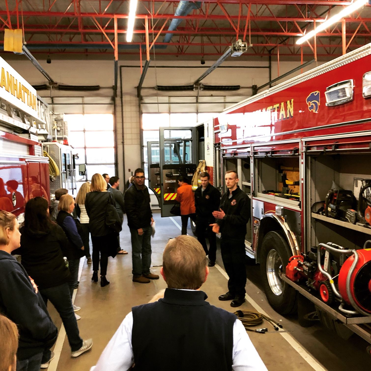 photo of people touring the fire department headquarters