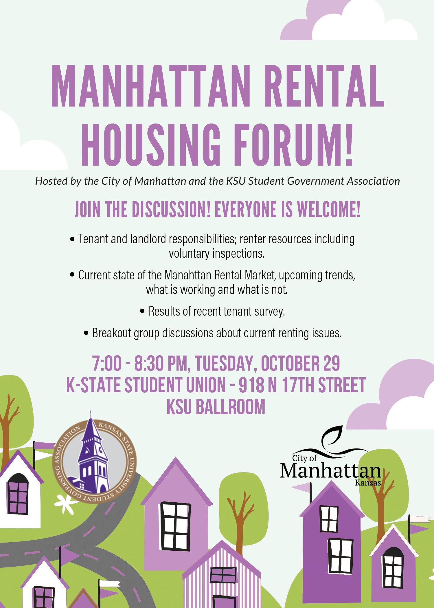 flyer for the housing forum
