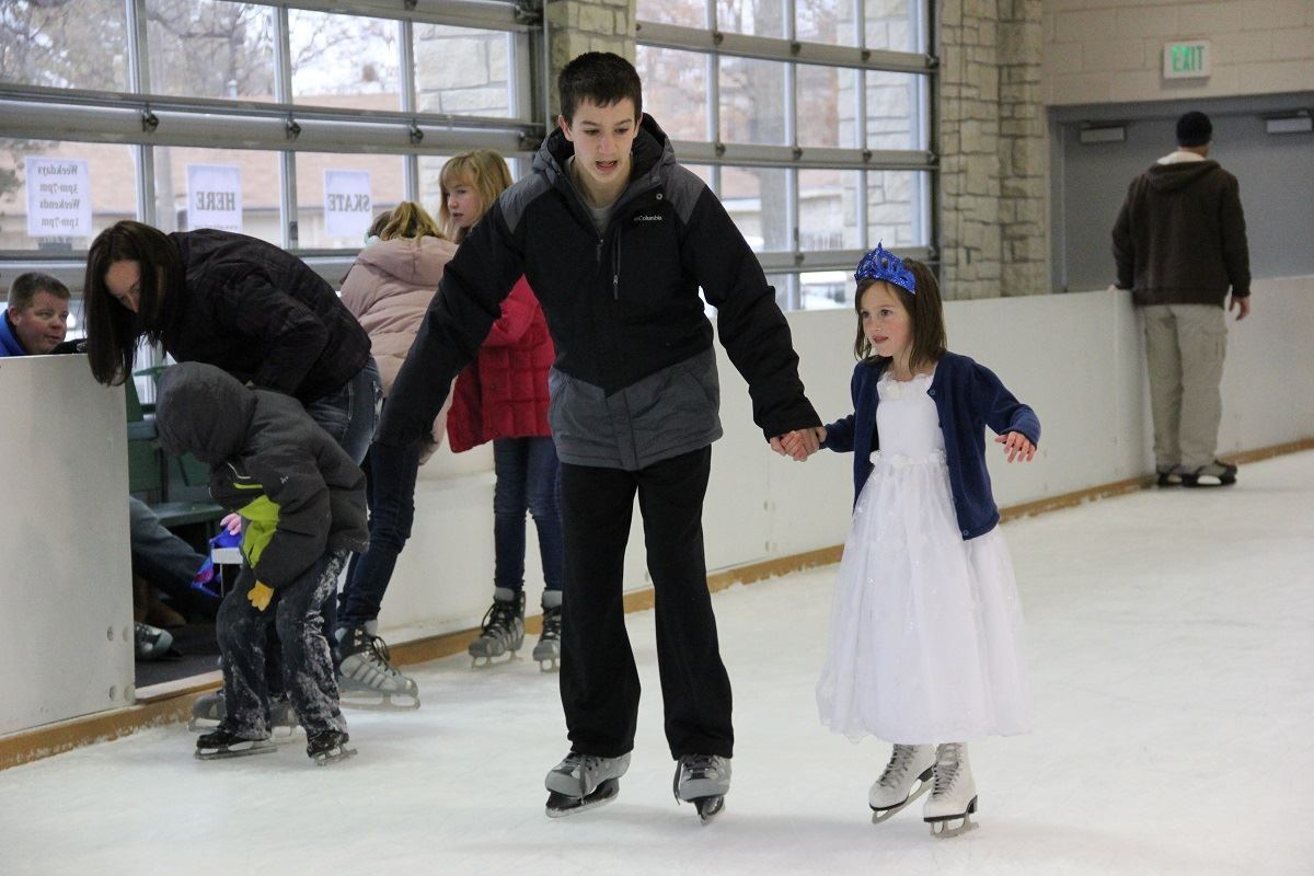 photo of children ice skating