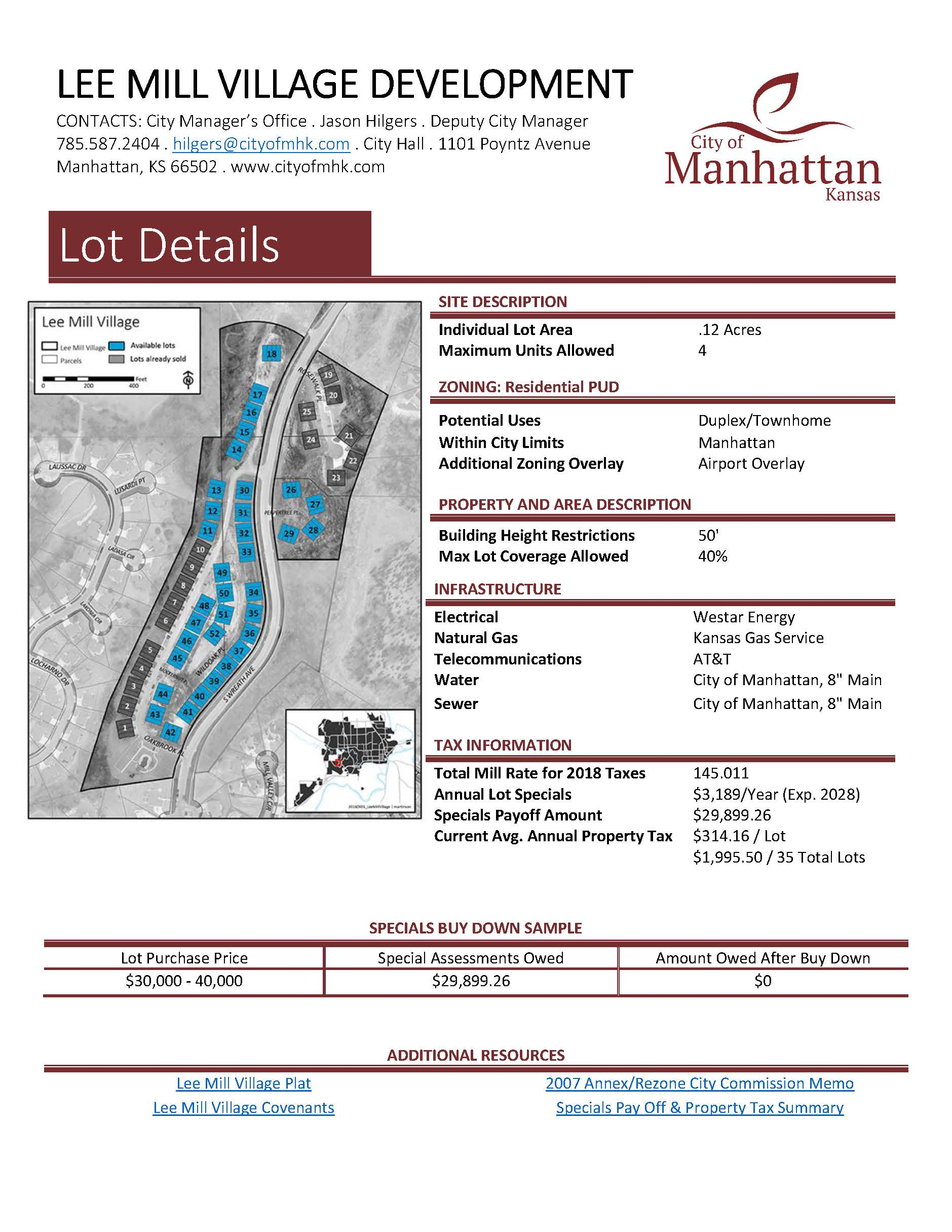 image of data sheet for Lee Mill Village - click for PDF Opens in new window