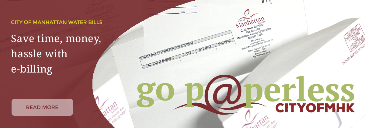 Go Paperless with e-billing from the City of Manhattan